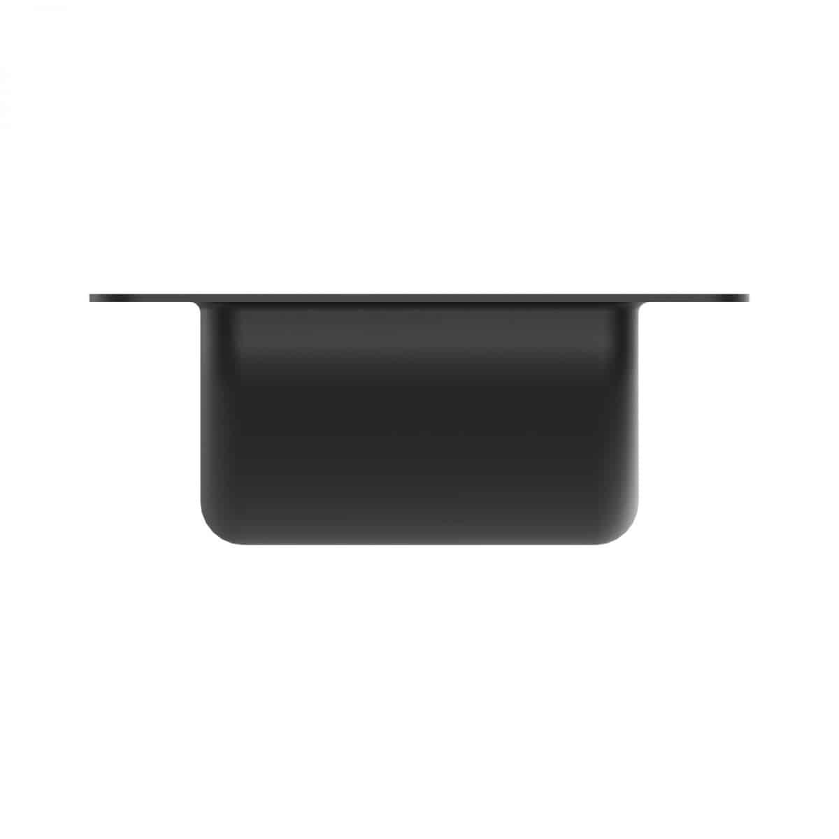 ARMOR YR-6201 Black Castor Dish with Deep Recess for 4'' Castors