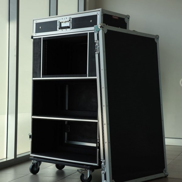 Custom Amp Head Road Case with Drawer and Rack Space