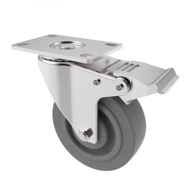 CARJET 3B 100mm-4″ Braked Rubber Swivel Castor