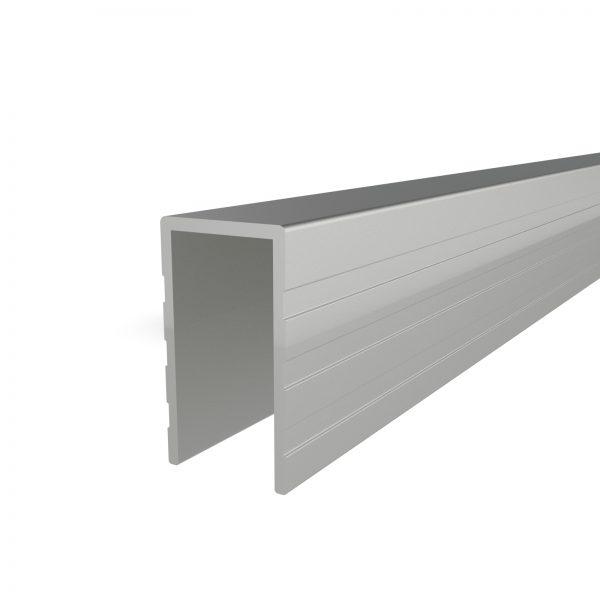 E-U9 aluminium u cap extrusion 9mm