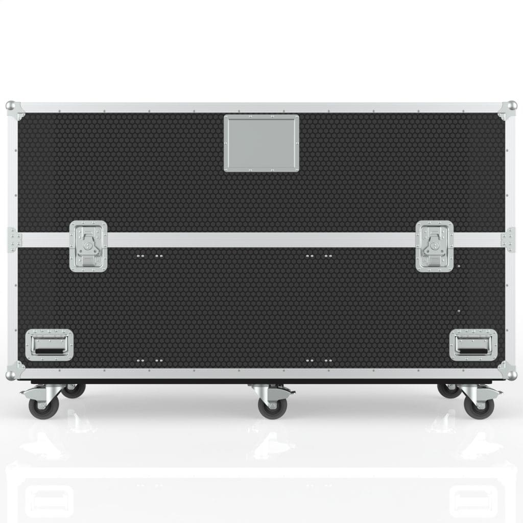 Twin TV Road Case with End Compartment