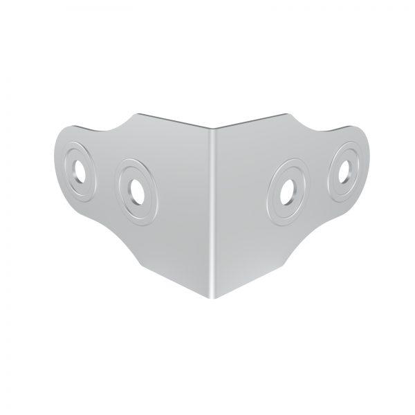 ARMOR B4601 4 Hole Corner Angle Brace with Rivet Protector
