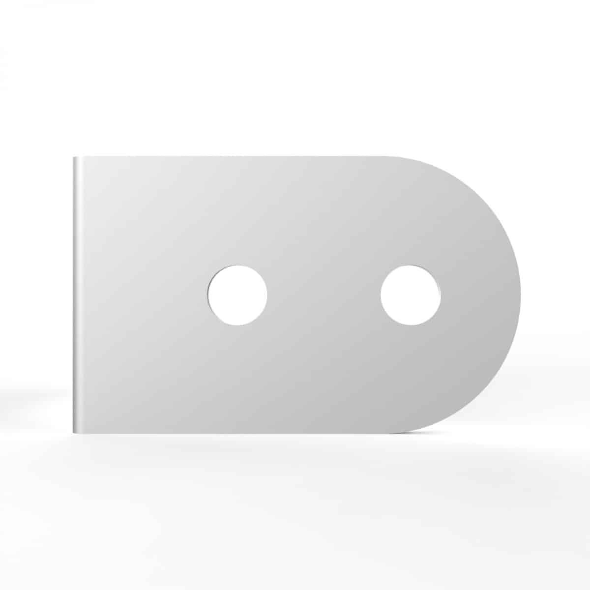 ARMOR Hardware B4602 4 Hole Corner Angle Steel Brace