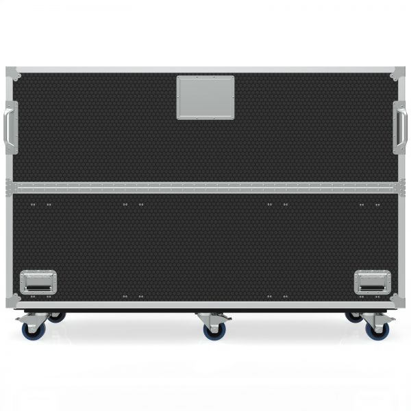 Twin TV Road Case with Clamshell Split Lid