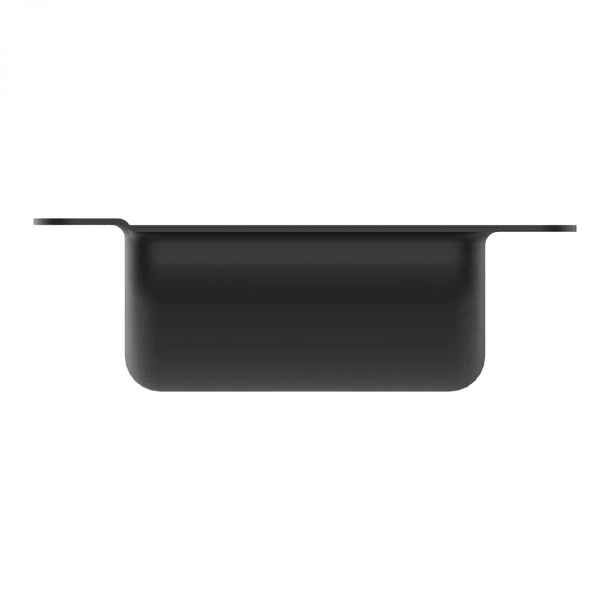 ARMOR YR-6202 Black Castor Dish with Medium Recess for 4'' Castors